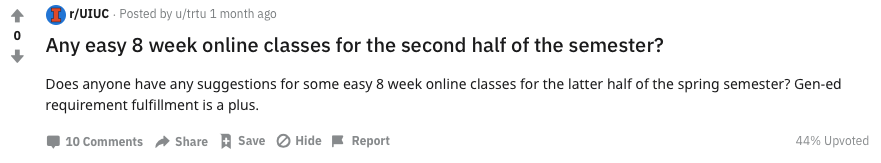 Reddit Easy 8 Week Second Half 1