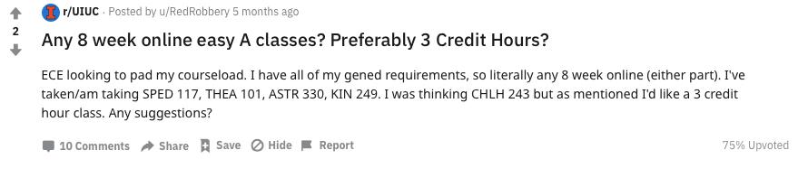 Reddit 8 Week 3 credit hour 1