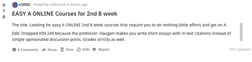 Reddit Easy Second 8 Week Course 1